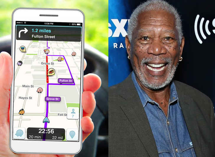Morgan Freeman Voice Option to Guide You to Your Destination