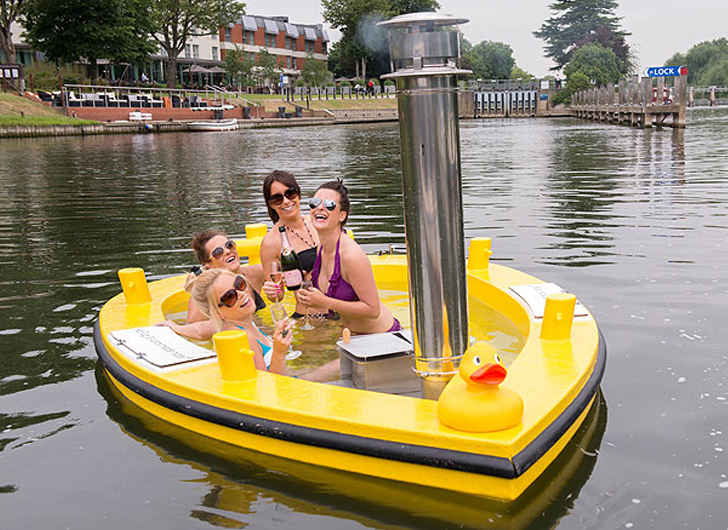 Cruise the Waters in the HOT TUG – Combines Jacuzzi with Tugboat