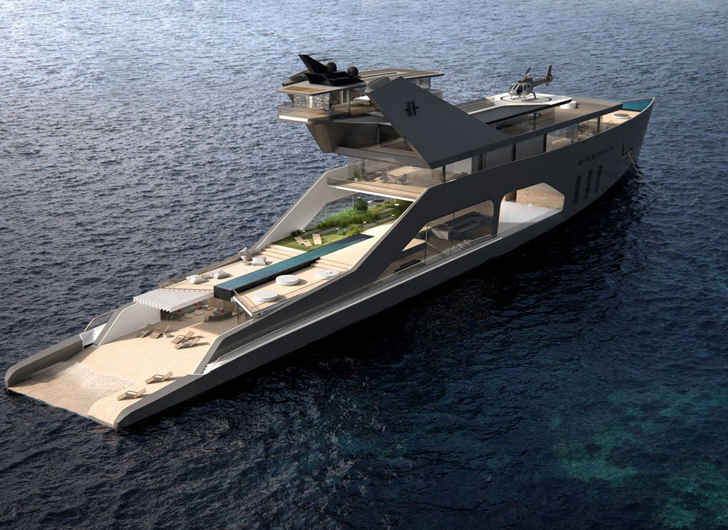 This Mega-Yacht is Equipped With Its Own Private Beach