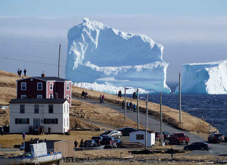 Iceberg off Newfoundland Becomes Tourist Mecca